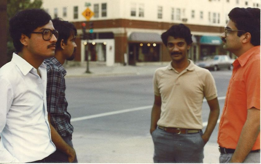With my friend Ravi outside 222 1/2 Washington St. where I lived