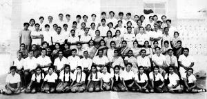 11th Grade graduating class with all of the teachers of the school (1977)